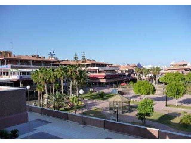 View across to the Yumbo Centre - Iguazu free fast wi fi, Playa del Ingles, Gran Canaria